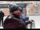 Сильный снегопад парализовал Таганрог (5 канал ТНТ, 29 01 2014)